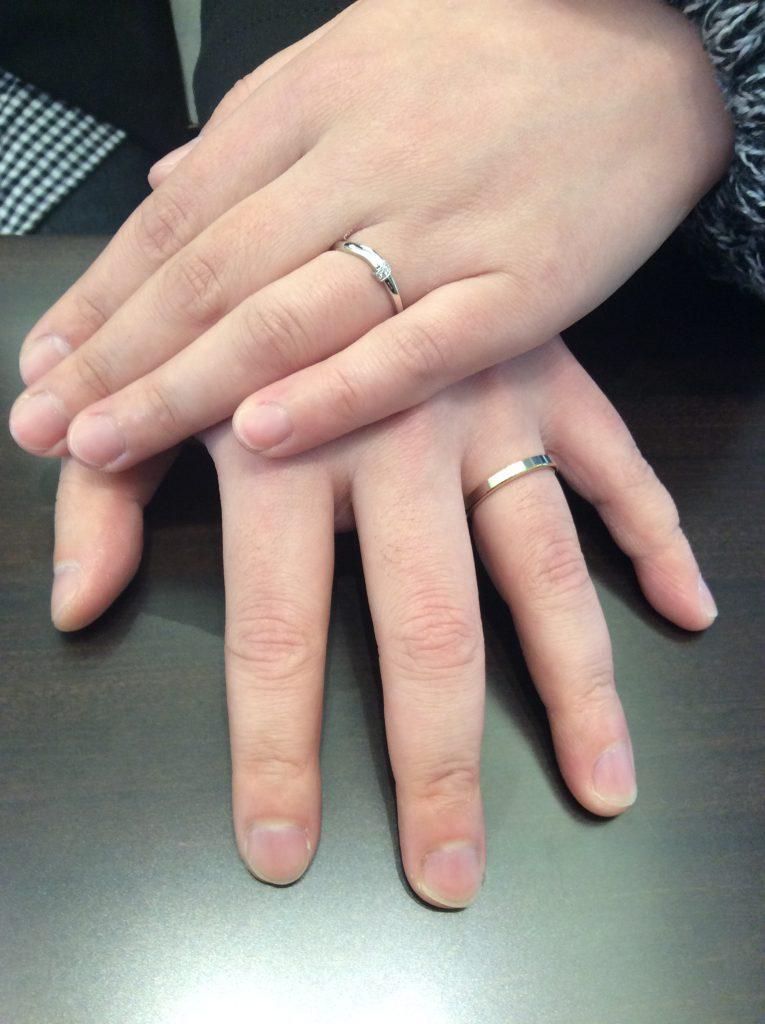 結婚指輪  NY.NIWAKA(ニューヨークニワカ)「HARMONY(ハーモニー)」&NIWAKA(にわか)「結」(新潟市西区/Y様ご夫婦)