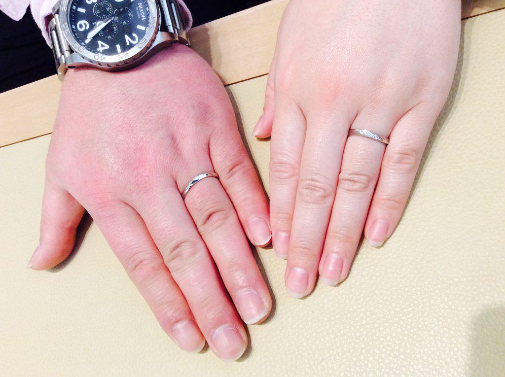 結婚指輪 ロイヤルアッシャーをご納品(新潟市/M様ご夫婦)