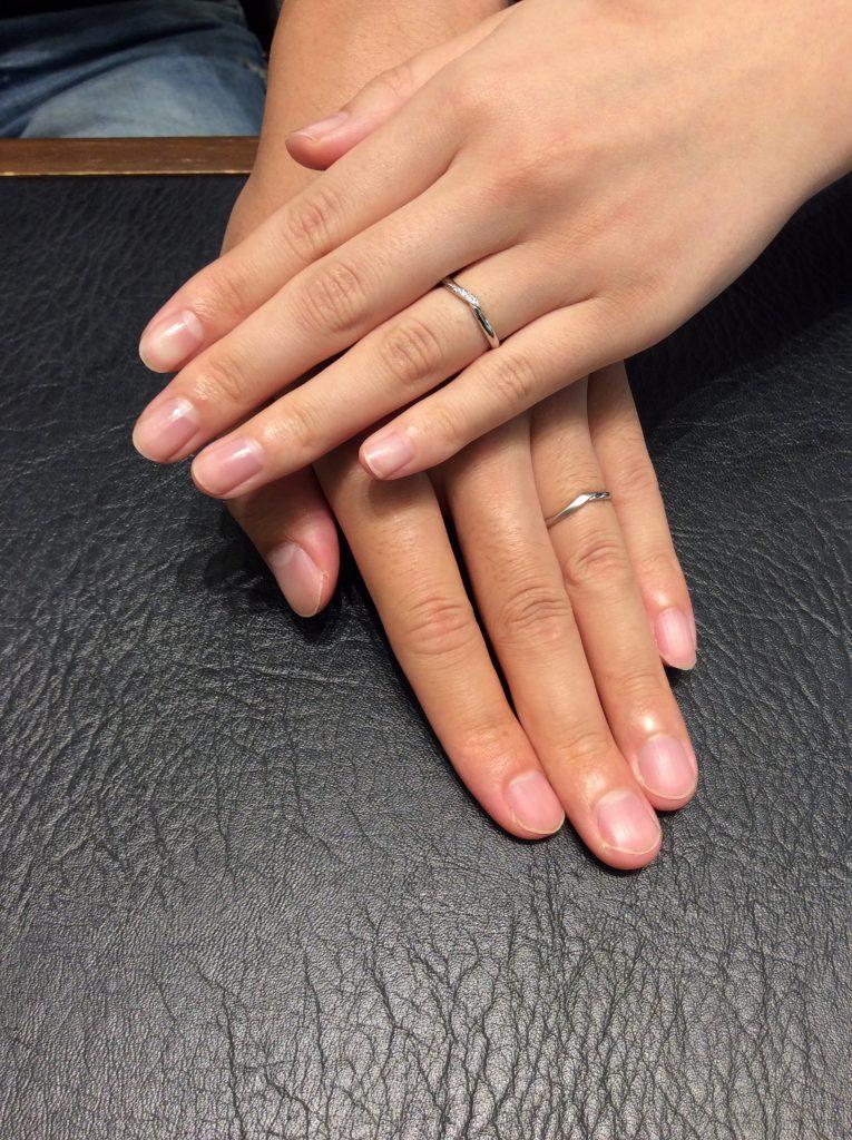 結婚指輪 カフェリングのシェリにひとめぼれ💓(新潟市/藤井学様・桃子様)