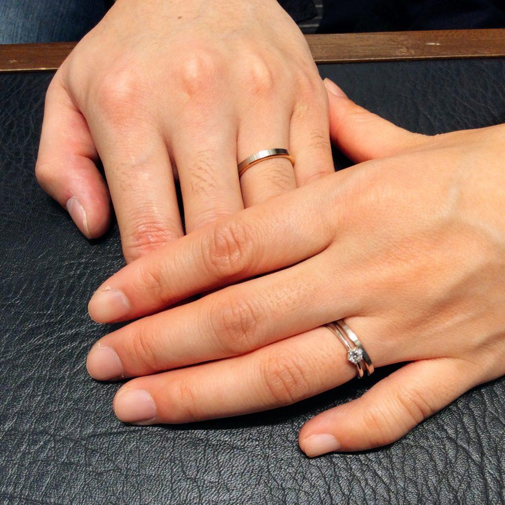 結婚指輪 N.Y.NIWAKAのハーモニー(新潟市西区/K様ご夫婦様)