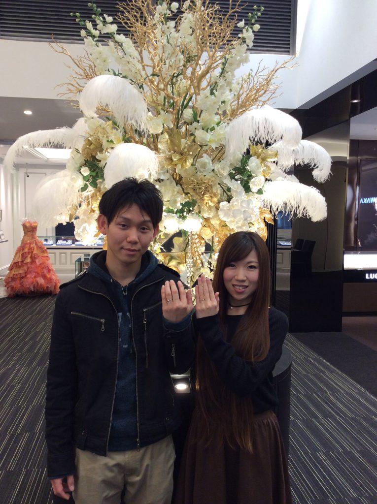 一生大切にします💗クワンドゥマリアージュの「ドゥブリーズ」の結婚指輪 (新発田市/H様&T様)