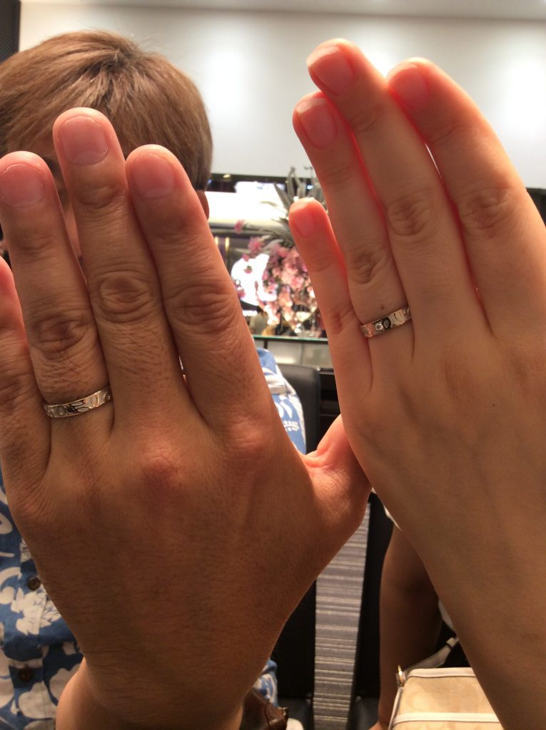 FISCHER(フィッシャー)の結婚指輪をご納品(新潟市/高杉様ご夫婦)
