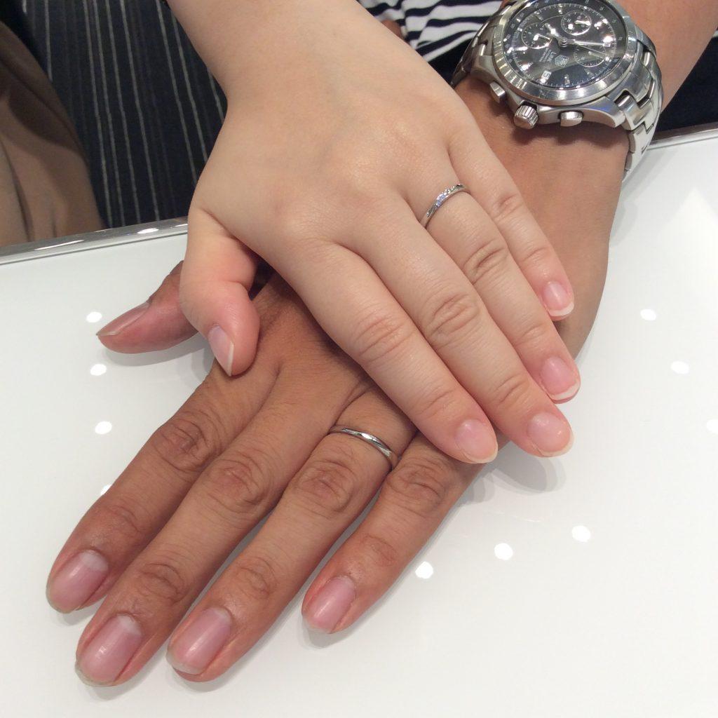 ポンテヴェキオの結婚指輪『モルビド』が綺麗✨(村上市/I様ご夫婦)