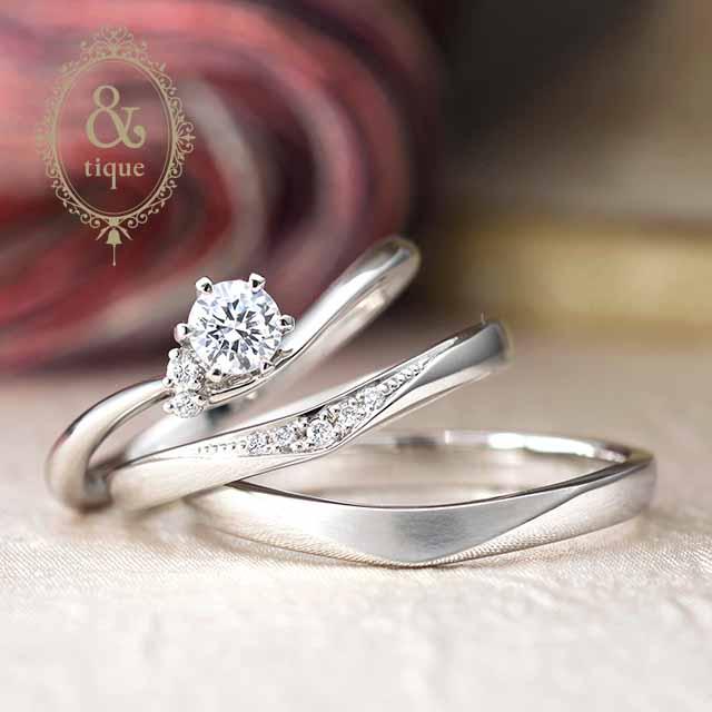 アンティックの結婚指輪「エミュリック」(新潟市江南区/K様&A様)