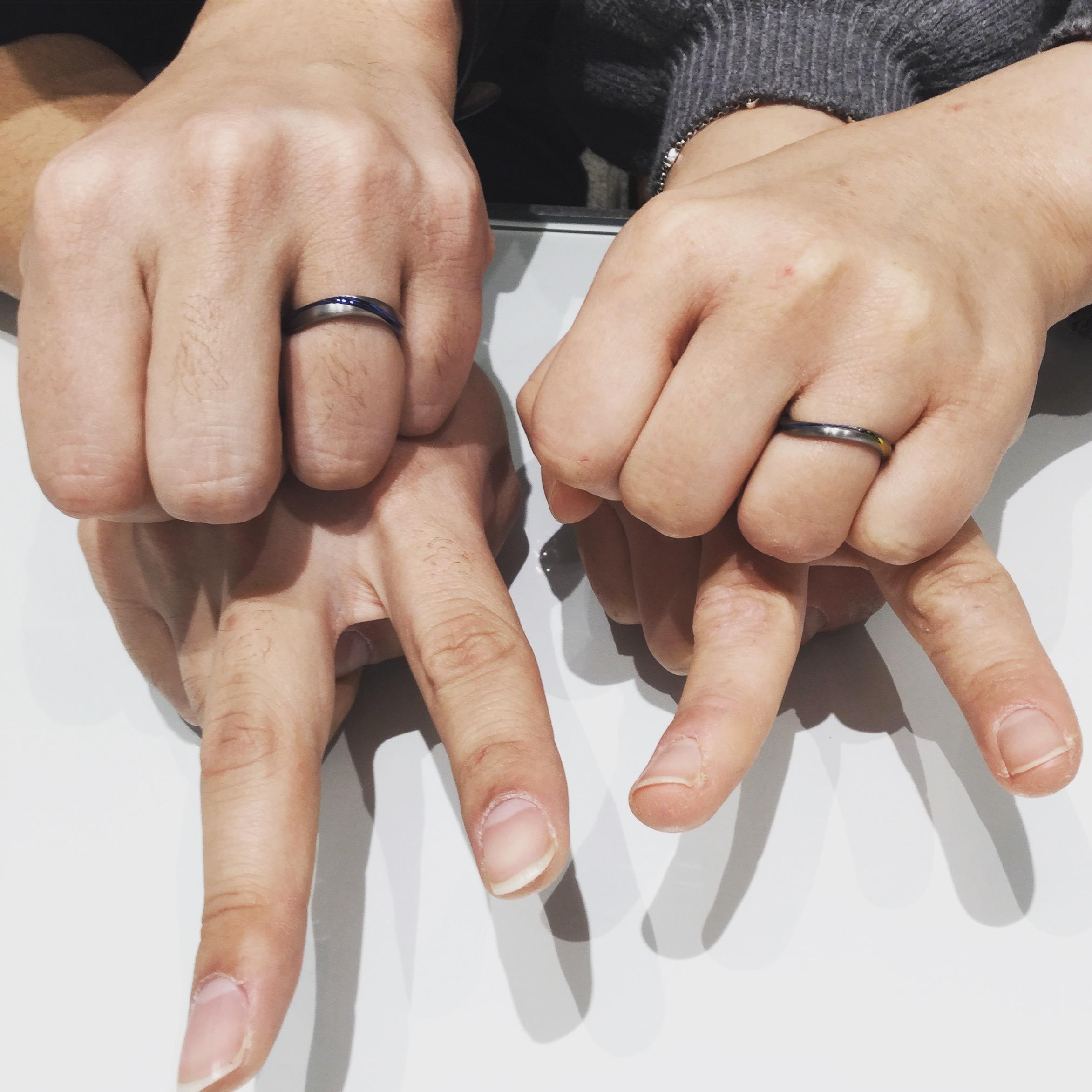 カラフルな色に一目惚れ💘SORA(ソラ)の結婚指輪をご成約♫(阿賀野市/K様ご夫婦)