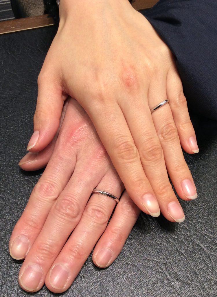 金属アレルギーの方でも安心💓カフェリングの結婚指輪(Kご夫婦/新潟市)
