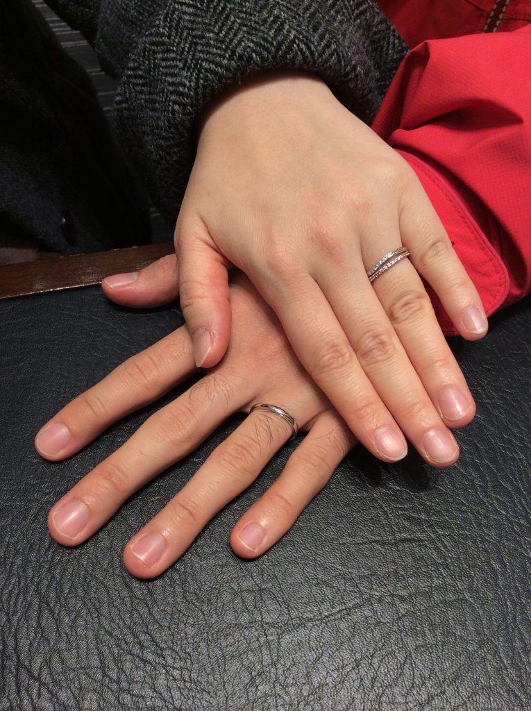 思い出とともに🎈ルシエの結婚指輪「リップル」(新潟市/S様ご夫婦様)