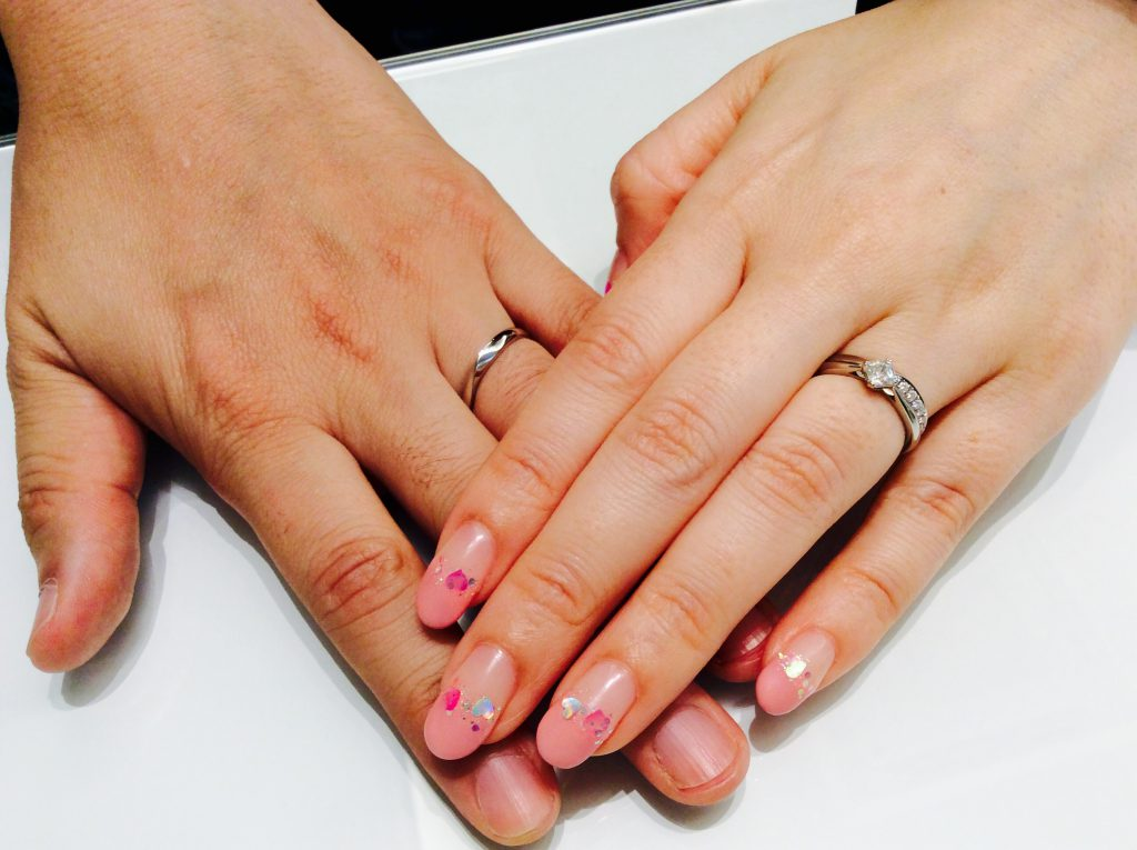 店内でサプライズプロポーズ❤️ロイヤルアッシャーダイヤモンドの婚約指輪、結婚指輪をご納品(柏崎市・長岡市/赤堀様♡藤澤様)