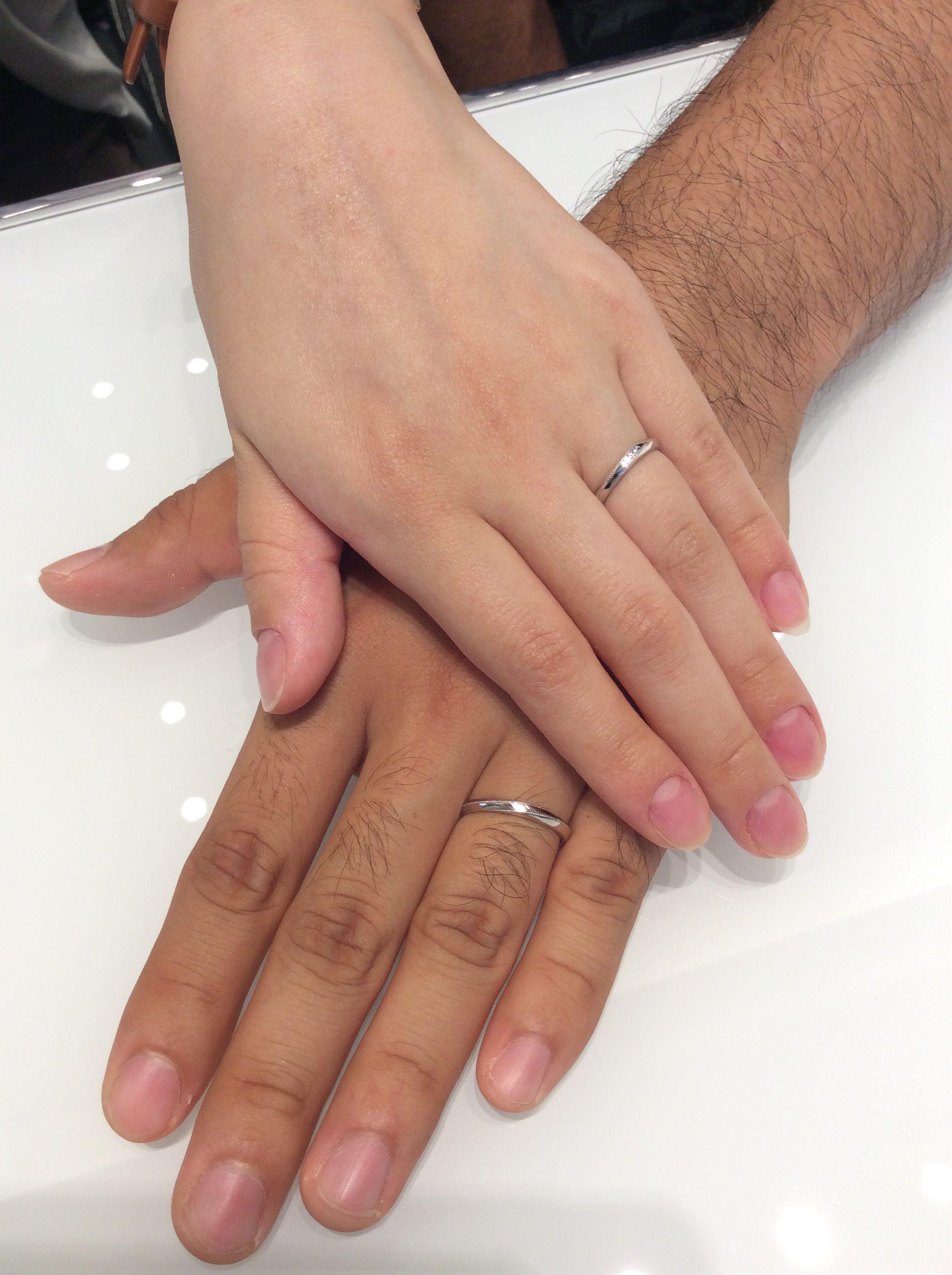 男性からも人気👍Cafe Ringの結婚指輪をお求め頂きました✨(見附市/K様ご夫婦)