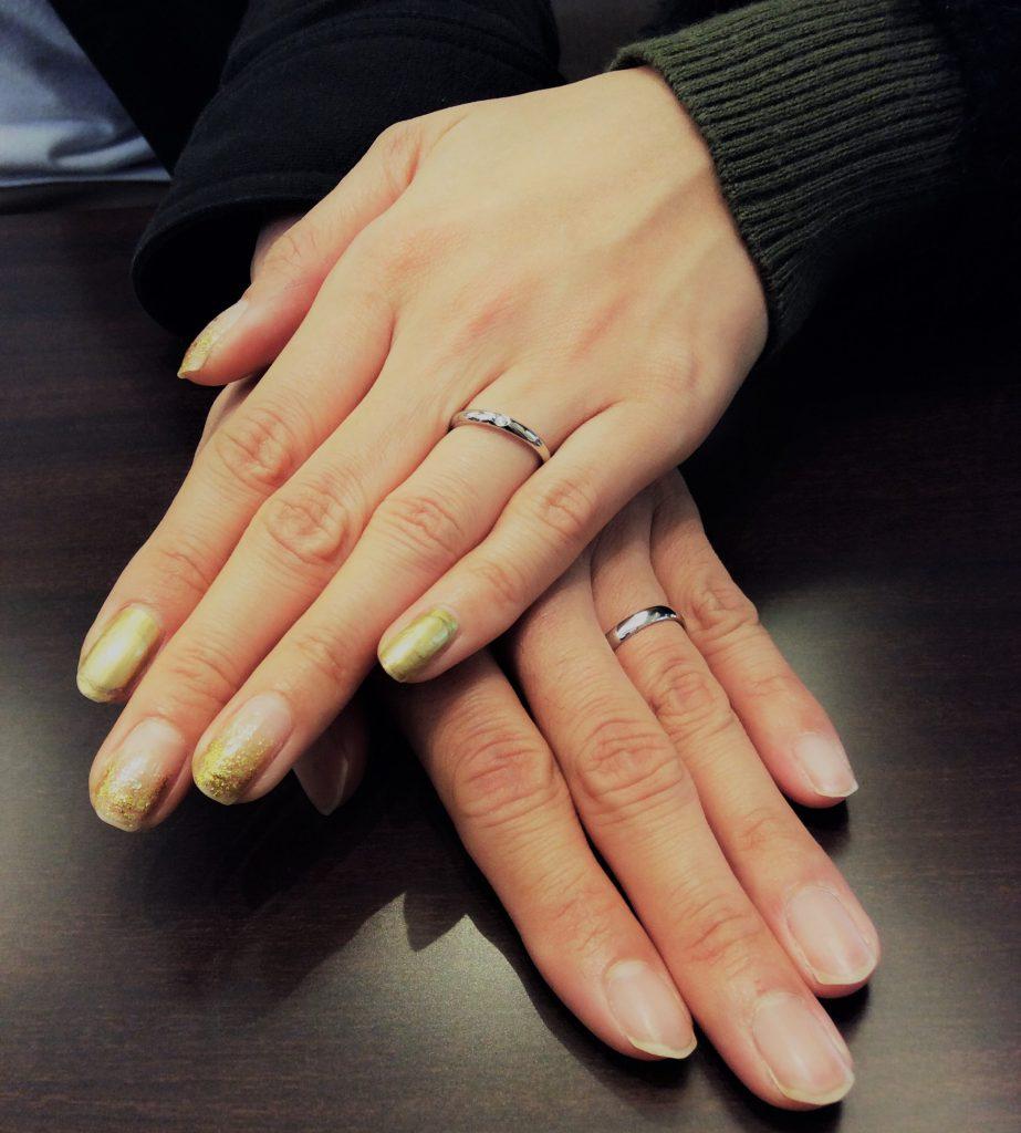 俄(にわか)「ことほぎ」とラザールダイヤモンドの結婚指輪(新潟市/健様♡由季枝様)