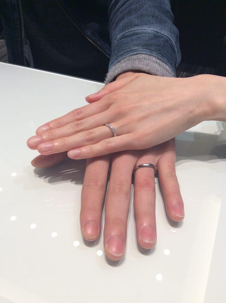 キラキラが決め手✨ルシエの結婚指輪「セレナーデ」(聖籠町/S様♡T様)