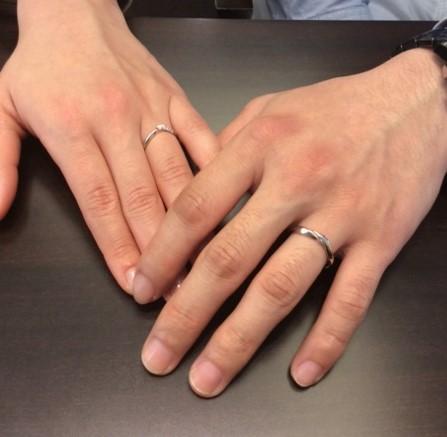 俄の結婚指輪『初桜』