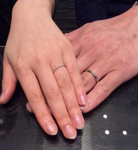 ルシエ『ロズレ』&『クロシエ』のご結婚指輪