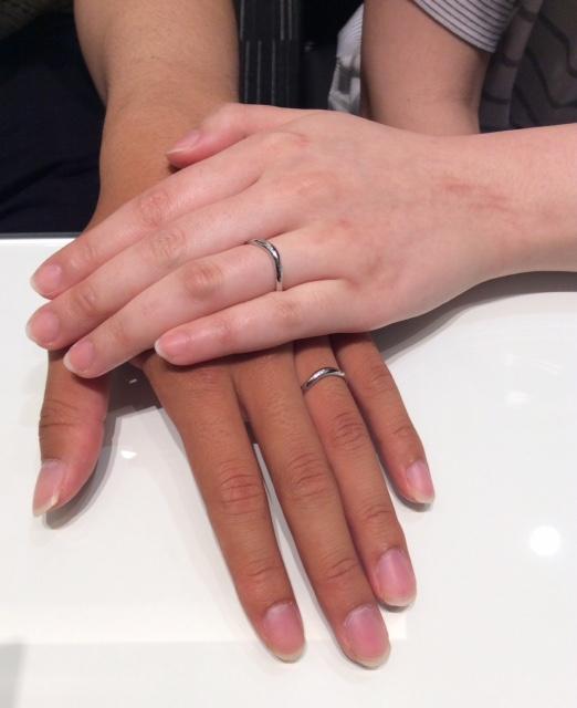 最高の結婚指輪 俄の『月の雫』