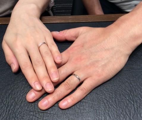 俄のご結婚指輪『雪佳景』
