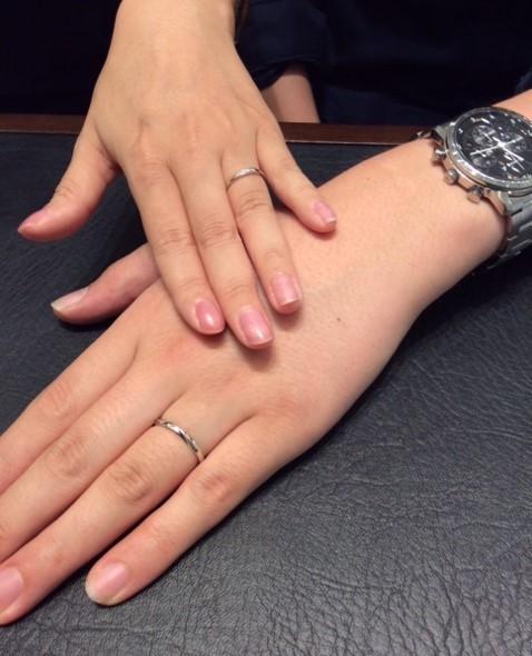 北見様♡川井様 のご結婚指輪『雪佳景』