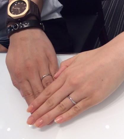 『ポンテヴェキオ & カフェリング』のご結婚指輪