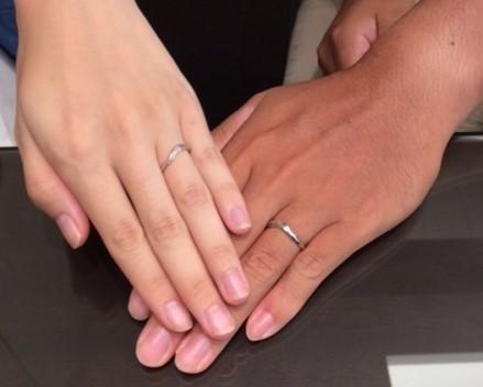 ‐イメージぴったり‐ ルシエの結婚指輪『ディスティニー』(新潟市/U様K様)