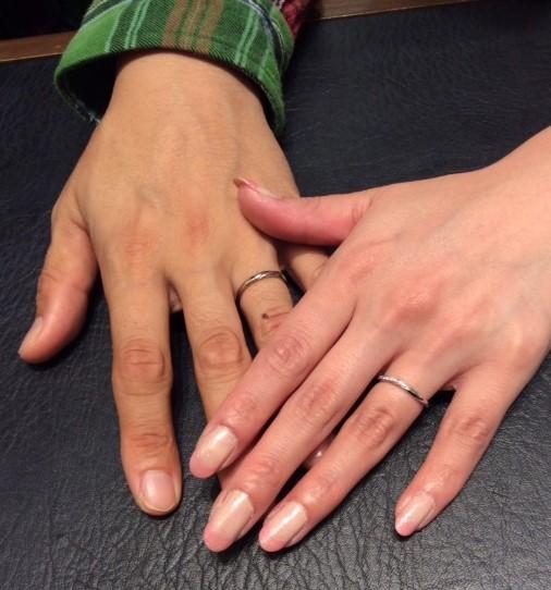 -幸せのリング-  LUCIEの結婚指輪『リップル』(N様ご夫婦)