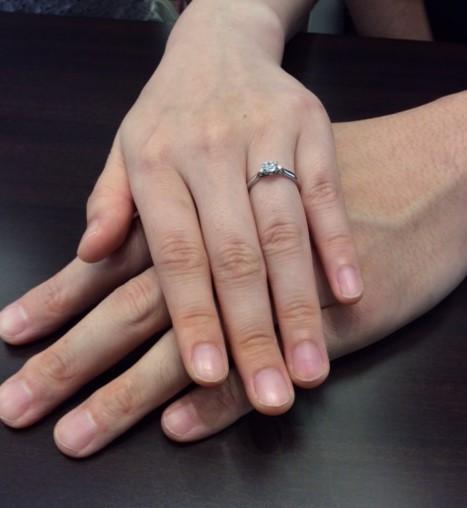 俄の婚約指輪『白鈴』は、一生の宝物✨(燕市.新潟市/Y様M様)