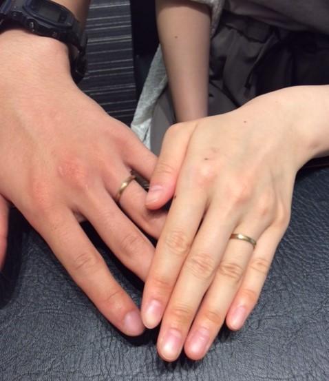 -あたたかな杢目に惹かれて- 俄の結婚指輪『京杢目 ひなた』(村上市/Y様M様)