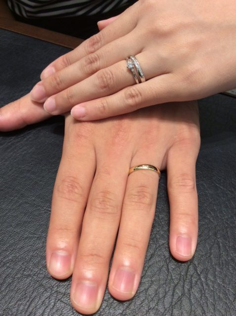『ルシエ』の婚約指輪&結婚指輪に一目惚れ(新潟市/T様Y様)