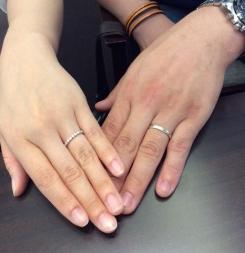 -女性の憧れ エタニティリング-  ルシエ&ポンテヴェキオのご結婚指輪(糸魚川市/T様Y様)