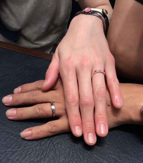 俄のご結婚指輪『水鏡』