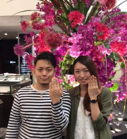 3つの幸せ Cafe Ring『トロワノワ』婚約指輪と結婚指輪(新潟市/W様 S様)