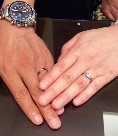 俄の婚約指輪・結婚指輪 『白鈴・初桜』(村上市・新潟市/F様・N様)