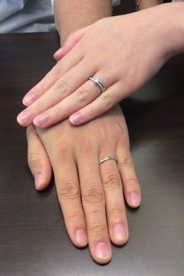 ルシエ の婚約指輪&結婚指輪 『レディアント&リファージュ』 (長岡市/K様 S様)