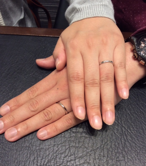 NIWAKA の結婚指輪『朝葉』(見附市 / S様ご夫婦)