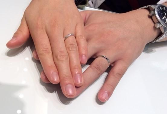 俄のご結婚指輪『朝葉』(上越市 / Y様・M様)