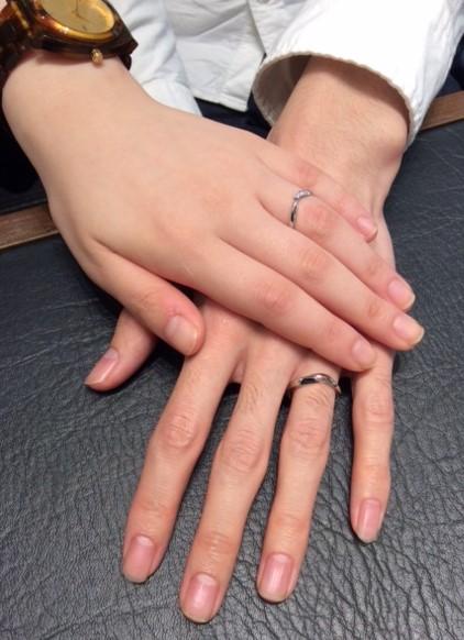 NIWAKAの結婚指輪『初桜』(上越市・新潟市 / M様・R様)