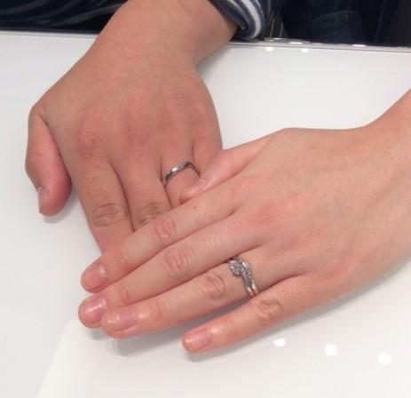 俄の婚約指輪 『茜』&結婚指輪 『初桜』(十日町市・燕市 / R様・R様)