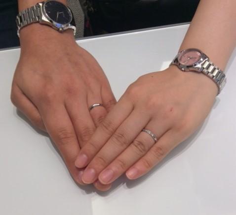 ロイヤルアッシャーダイヤモンドのご結婚指輪の輝きが一番!(D様・J様)