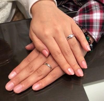 俄の婚約指輪『白鈴』&結婚指輪『凛』(新潟市 / F様・T様)
