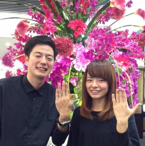 NIWAKA のご結婚指輪『ことほぎ』(新潟市 / T様・H様)