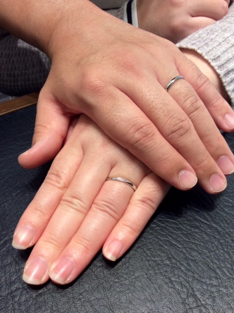 Cafe Ring 【ローブ ドゥ マリエ】のご結婚指輪💍(新潟市 / S様ご夫婦)