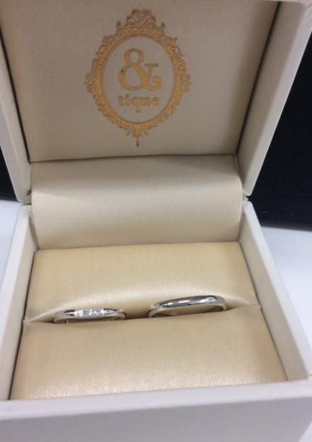アンティック 『ムーティ』 のご結婚指輪(新潟市/N様ご夫婦様)