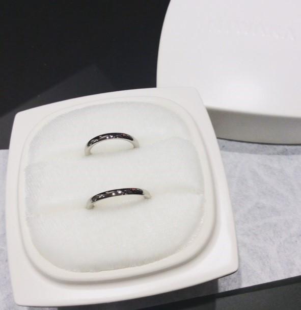 NIWAKA のご結婚指輪『かれん』(南魚沼市 / I様ご夫婦)