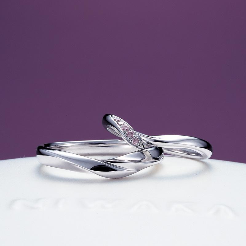 俄のご結婚指輪『初桜』(上越市/S様ご夫婦様)