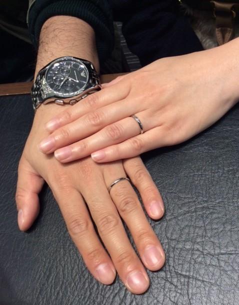 ロイヤルアッシャーのご結婚指輪(新潟市/Y様&M様)