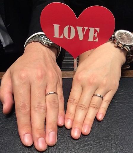 ロイヤルアッシャーのご結婚指輪 (新潟市 / E様&Y様)