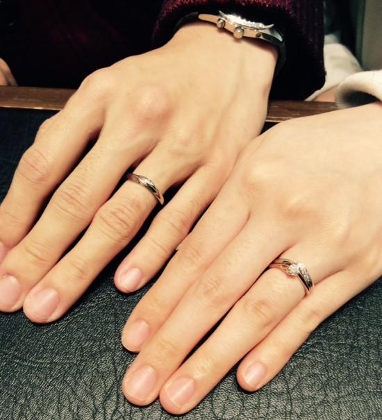俄(にわか)の婚約指輪&結婚指輪『初桜』(新潟市・南魚沼市/K様&K様)