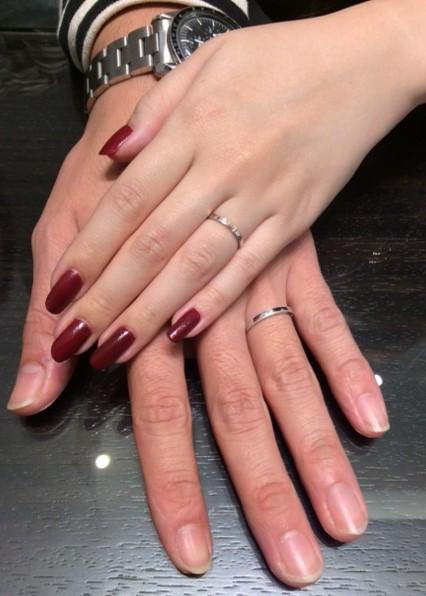 ルシエのパルファンとアルクのご結婚指輪(小千谷市/K様ご夫婦)