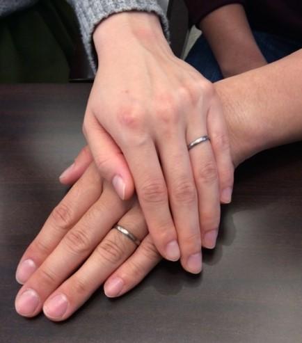 NIWAKAの京杢目 ご結婚指輪『長閑』 (新潟市/O様T様)