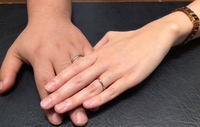 俄とプルーブのご結婚指輪💍俄『結』はピンクゴールドアレンジで・・・♡(燕市/S様Y様)