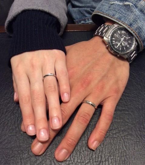 ルシエの『ムーンライト』のご結婚指輪(新潟市/M様ご夫婦)