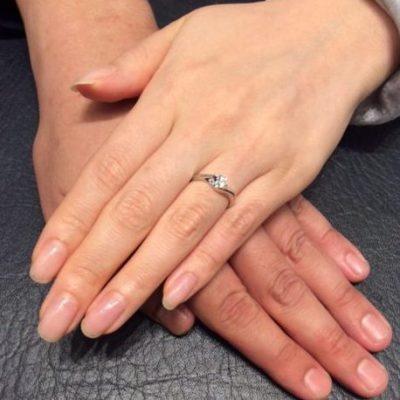 ロイヤルアッシャーのご婚約指輪「687」(長岡市・田上町/K様・S様)